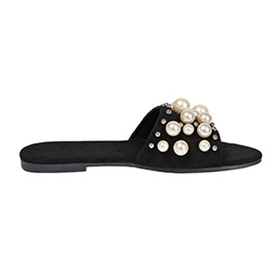 Faux Pearl Slide Sandals