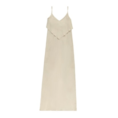 Pretty By Rory Flounce Maxi Dress in Nude