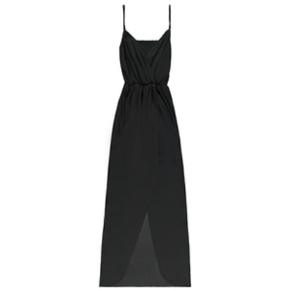 Pretty By Rory Surplice Dress in Black