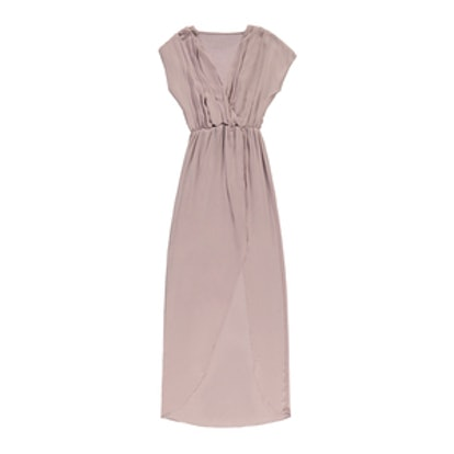 Pretty By Rory Chiffon Maxi Dress in Nude