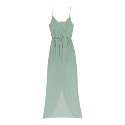 Pretty By Rory Surplice Dress in Seafoam