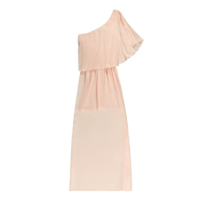 Pretty By Rory Chiffon Maxi Dress in Blush