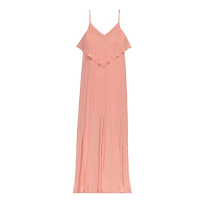 Pretty By Rory Flounce Maxi Dress in Coral