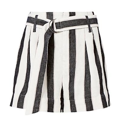 Linen Classic Stripe Shorts