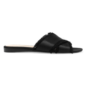 Frayed Satin Sandals