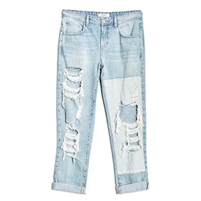Boy Fit Jeans in Light Wash