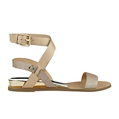 Leigha Heel-Plated Sandals
