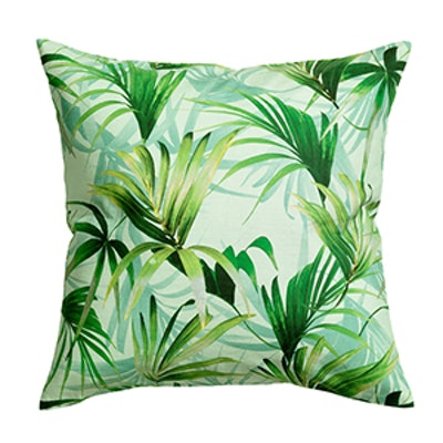 Palm-Patterned Cushion Cover