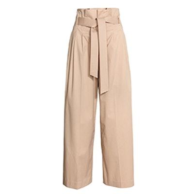 Wide-Leg Pants With Belt