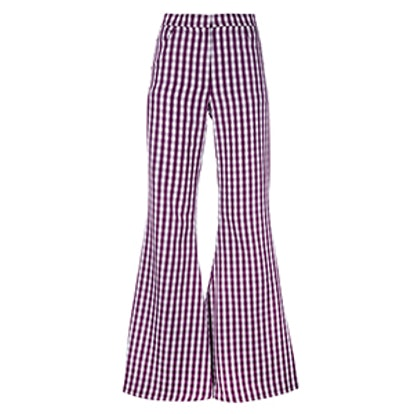 Flared Gingham Trousers