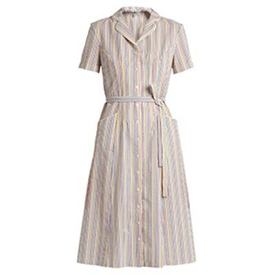Maria Striped Seersucker Dress