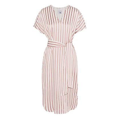 Striped Twill Dress