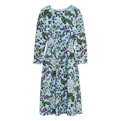 Juntos Printed Silk-Crepe Dress