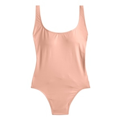 Plunging Scoopneck One-Piece Swimsuit