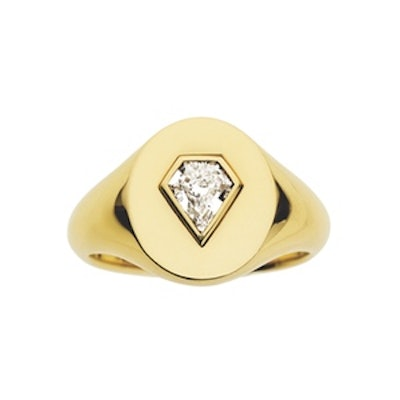Prive Diamond Shield Signet Ring