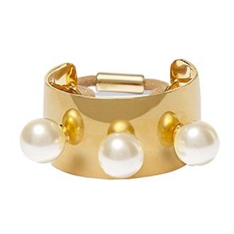 Gold Plated Swarovski Pearl Hair Tie