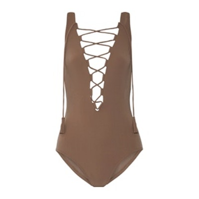 Entwined Lace-Up Swimsuit