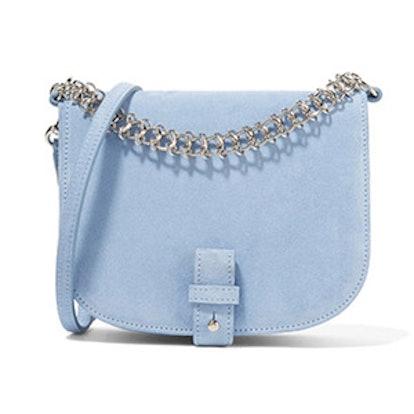 Saddle Up Small Suede Shoulder Bag