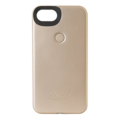 Two Illuminated Cell Phone Case For iPhone 7 In Gold Matte