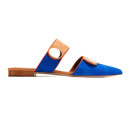 Backless Suede Flats