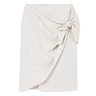 Knot Linen Skirt