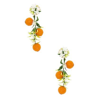 Fiesta Orange Tree Earrings