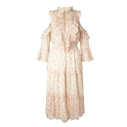 Ditsy Ruffle Midi Dress
