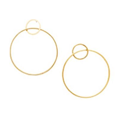 14k Gold Circle Earrings