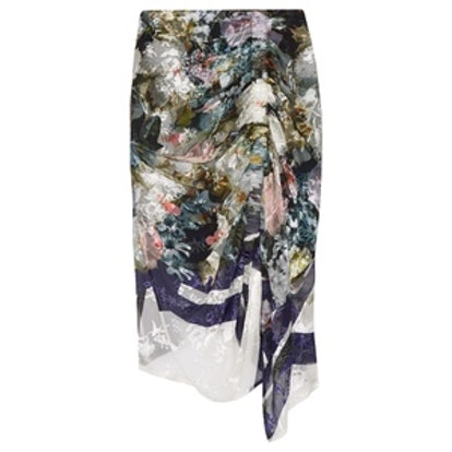 Terence Floral-Print Devoré Silk-Blend Chiffon Skirt
