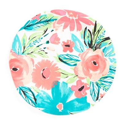 16-Inch Outdoor Florals Round Platter
