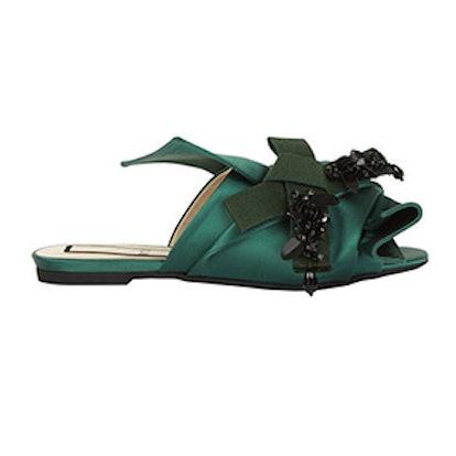 Bow Embellished Slides