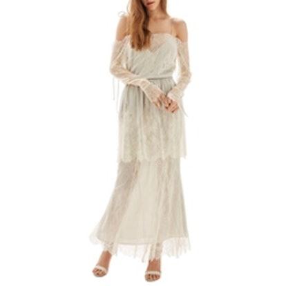 Bride Bardot Lace Off The Shoulder Gown