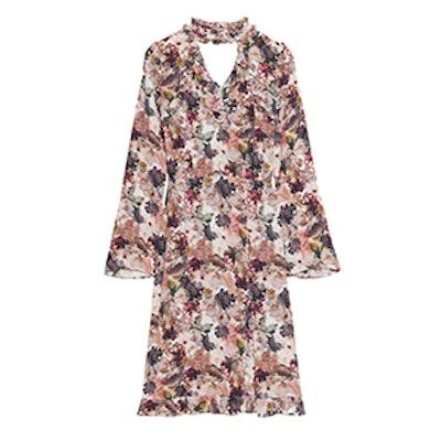 Frilled Collar Dress
