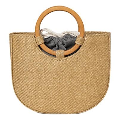 Rattan Straw Circle Handle Bag