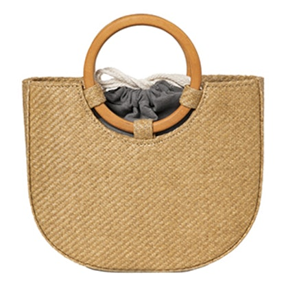 Rattan Straw Circle Handle Bag