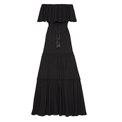 Stevie Off-The-Shoulder Silk Dress