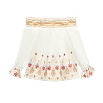 Veronica Off-The-Shoulder Embroidered Top
