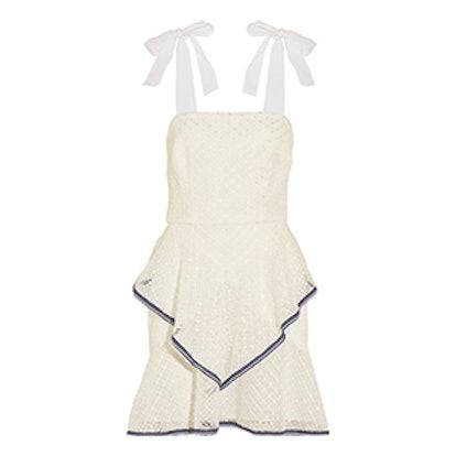 Bottom Of Society Ruffled Lace Mini Dress