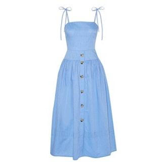 Issy Cotton-Chambray Midi Dress