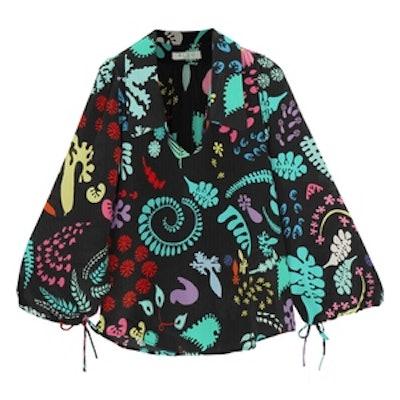 Orlagh Printed Silk Blouse