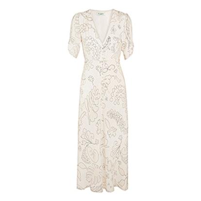 Gwyneth Printed Crepe Midi Dress