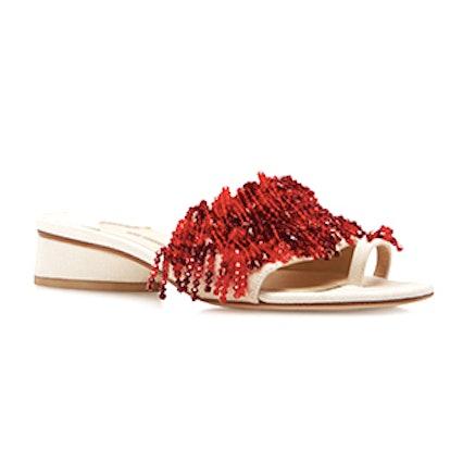 Rosie Assoulin Swarovski Slides