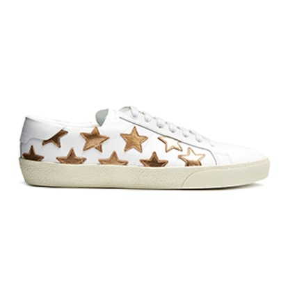 Court Classic Star-Applique Leather Trainers