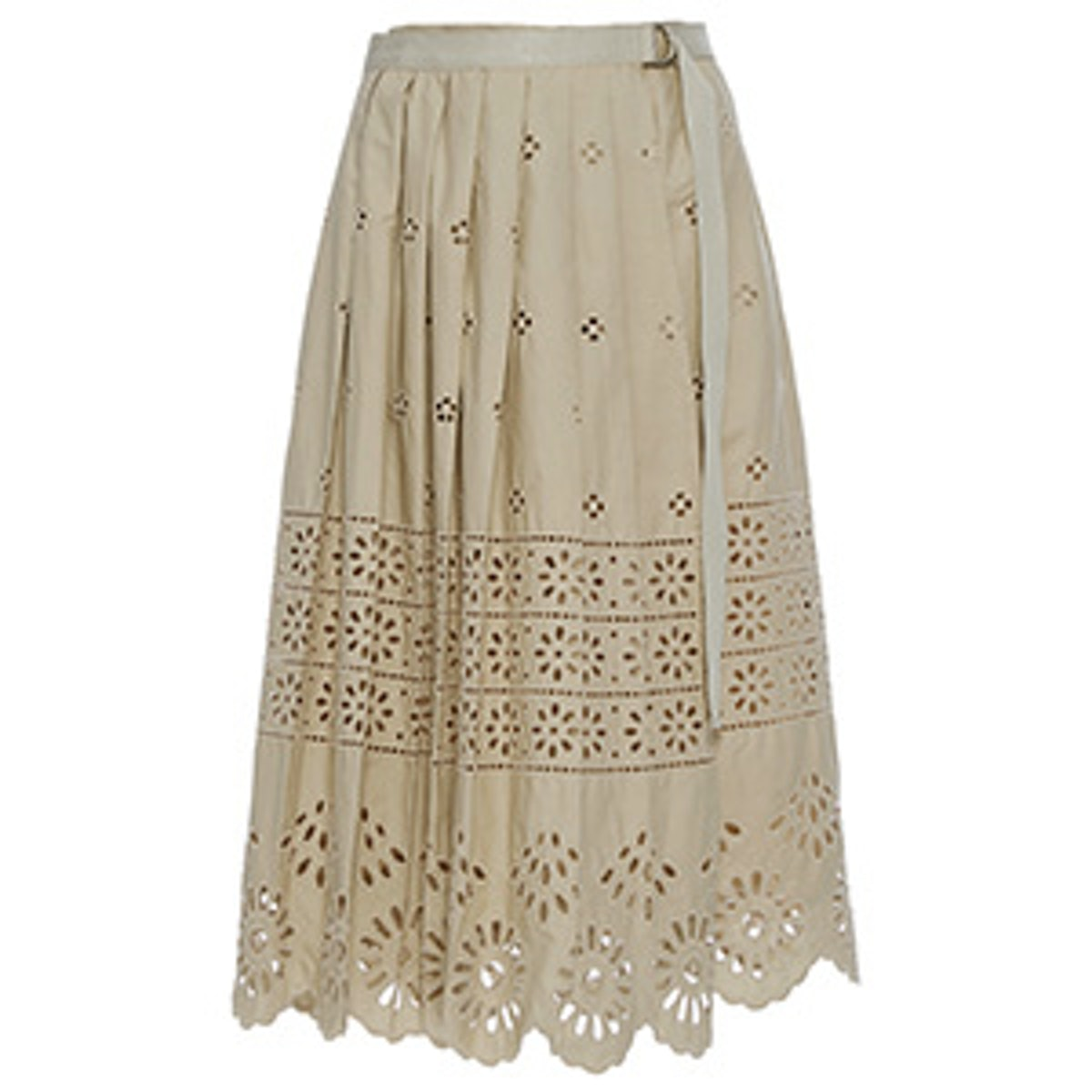 Wrap Eyelet Skirt