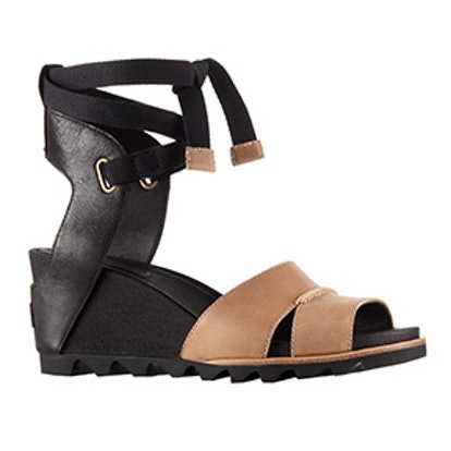 Joanie Wrap Wedge Sandal