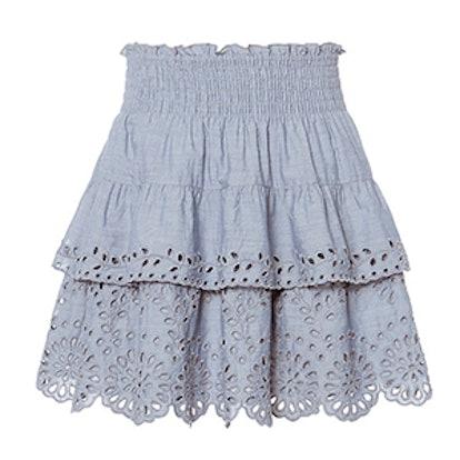 Juno Chambray Eyelet Skirt