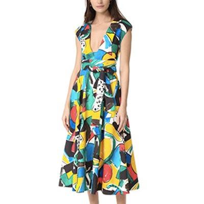 Cap Sleeve Flared Dress