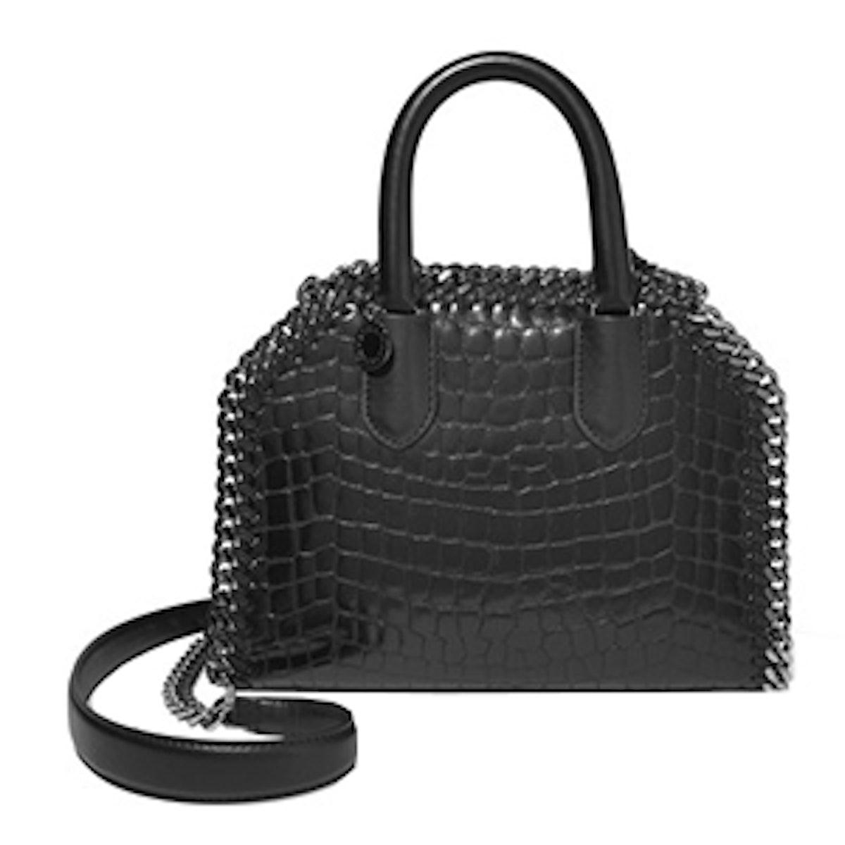 Falabella Croc-Effect Faux Leather Tote