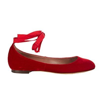 Daria Velvet Ballet Flats
