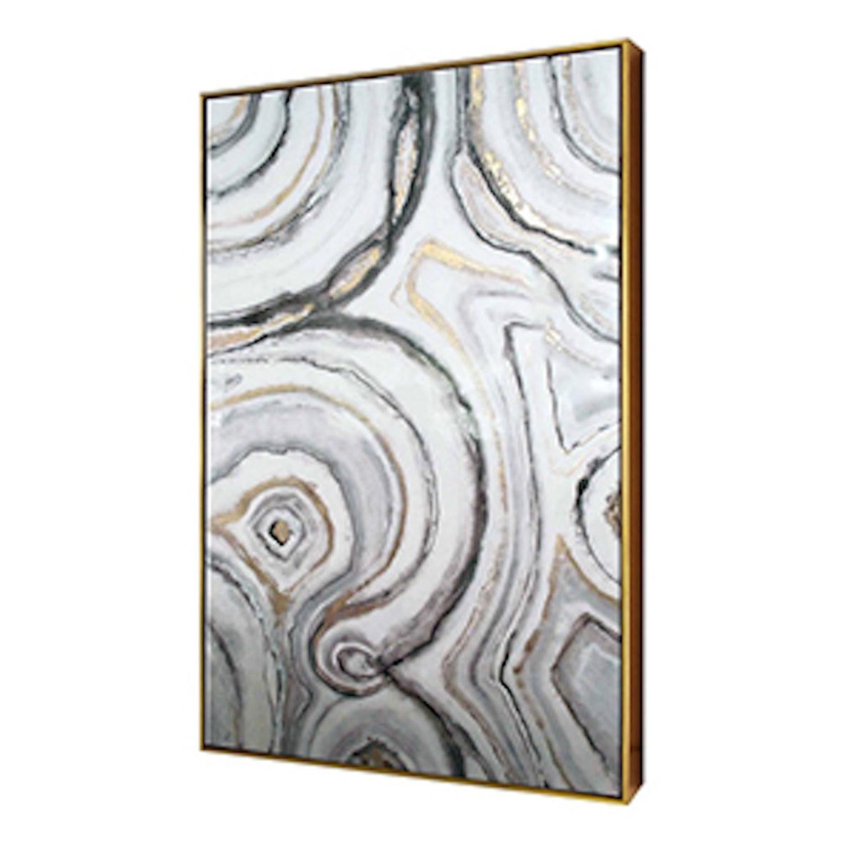 """Geode Framed High Gloss Canvas 40""""x25"""""""
